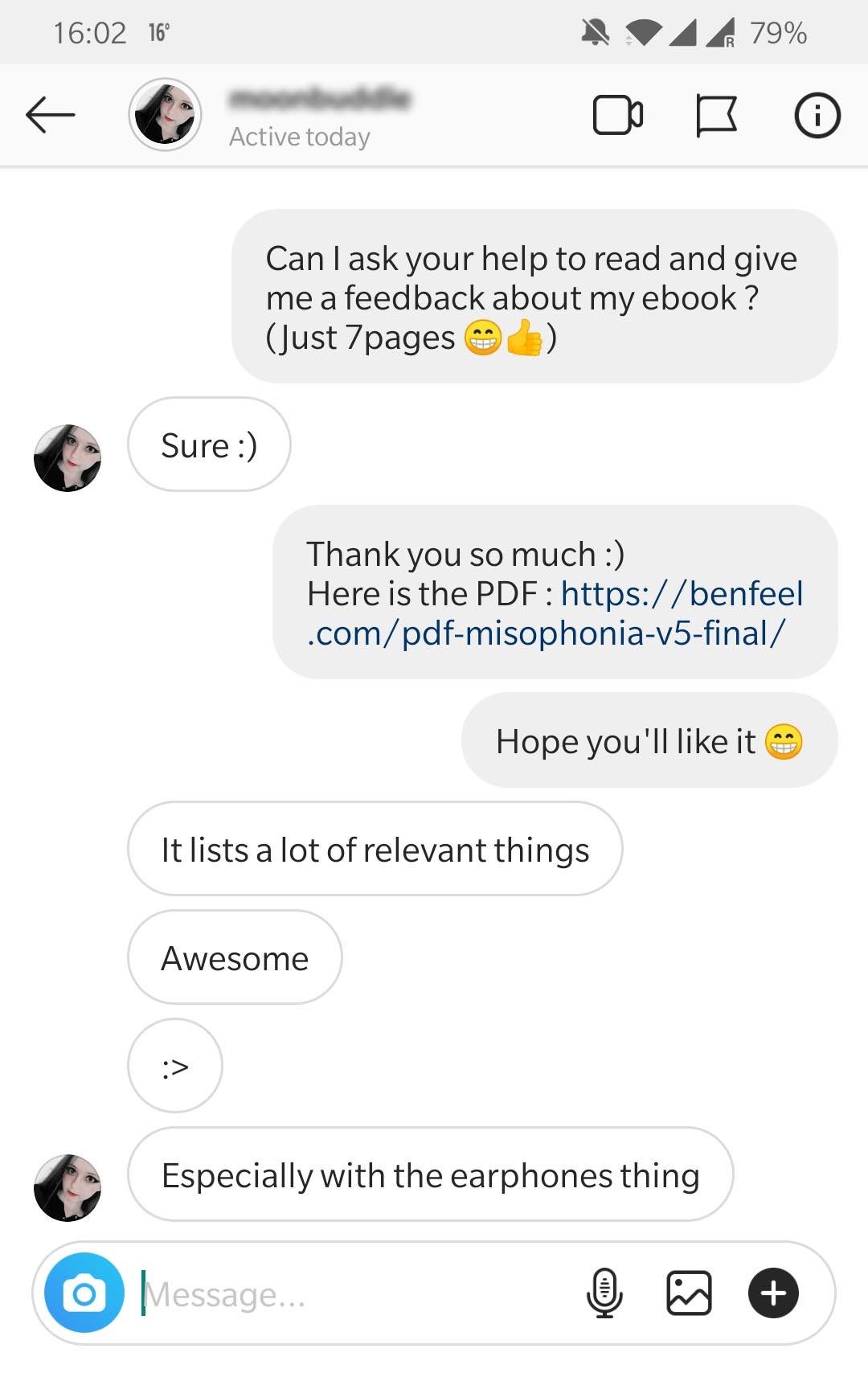 Testimonial 1 Awesome Benfeel Misophonia Guide PDF-min