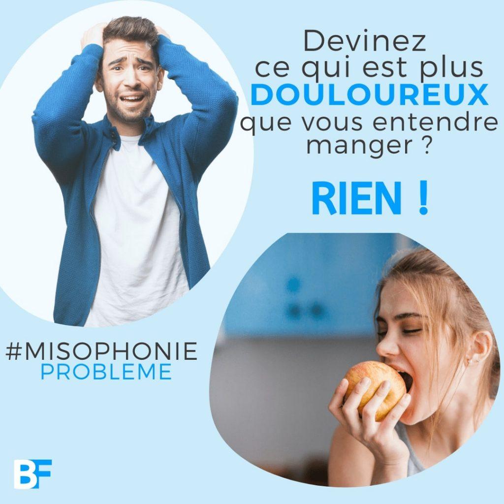 Devinez ce qui est plus douloureux que vous entendre manger - rien - problème misophonie-min
