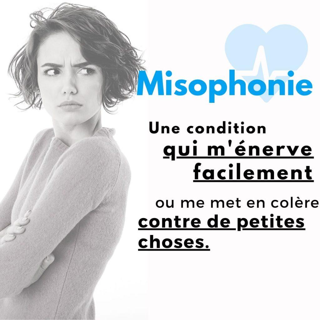 Misophonie une condition qui m'énerve facilement et me met en colère contre des petites choses