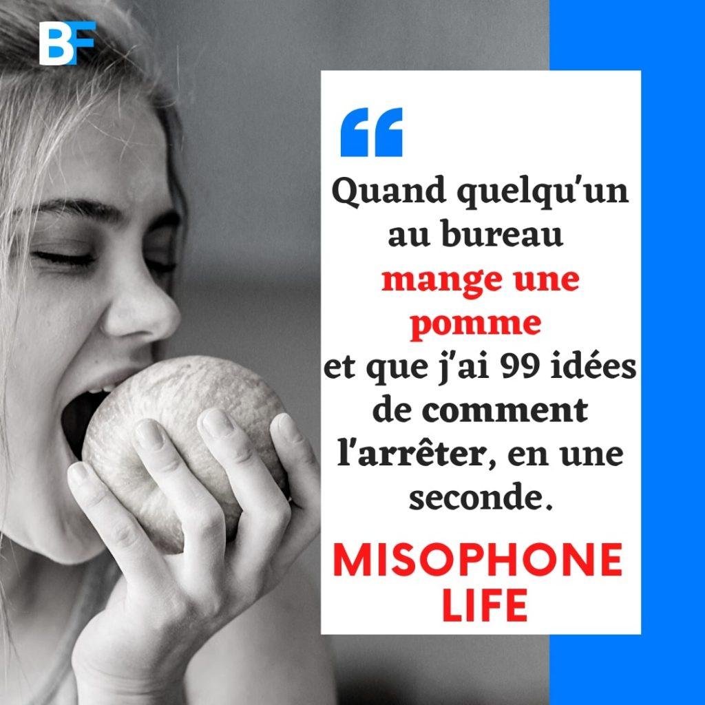 Quand quelqu'un au bureau mange une pomme et j'ai 99 idées sur la façon de l'arrêter en une seconde - Misophone Life-min